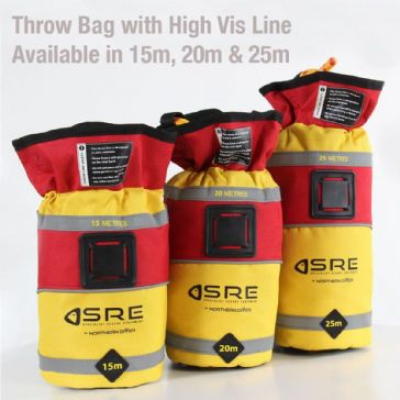 ND SAFETY 25M THROW BAG WITH HIGH VISIBILITY LINE